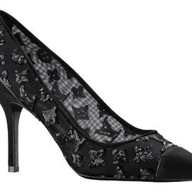 LOUIS VUITTON - Night Call shoes in mesh emroidered with sequins