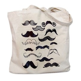 THE BOLD BANANA - Mustache Collection Tote Bag