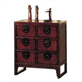 ORIENTAL FURNITURE - Chinese Black Iron End Cabinet