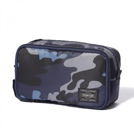 "HEAD PORTER - ""JUNGLE"" GROOMING POUCH DARK NAVY"