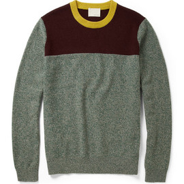 Band of Outsiders - Colour-Block Wool Crew Neck Sweater