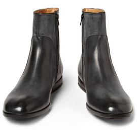Maison Martin Margiela - Burnished Zipped Leather Boots