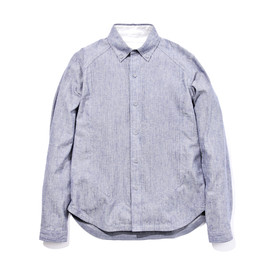 WHITE MOUNTAINEERING - CORD EMBROIDERED COTTON STINGY OXFORD BUTTON-DOWN SHIRT