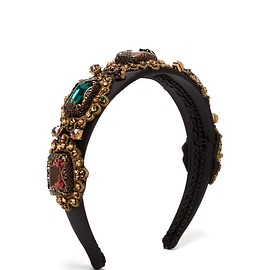 DOLCE&GABBANA - Pre-Fall 2019 Crystal-embellished embroidered headband