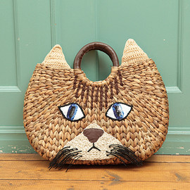CAT LEATHER TOTE