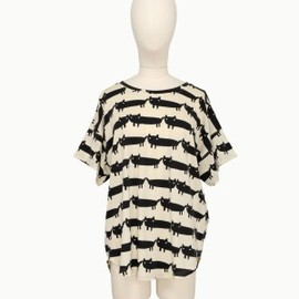 TSUMORI CHISATO - big-cats-large-t-shirt