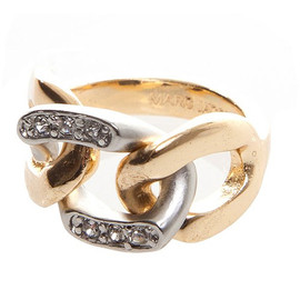 MARC BY MARC JACOBS - MARC JACOBS マークジェイコブス Rhinestone Chain Ring リング 指輪 GOLD