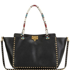 VALENTINO - SS2016 My Rockstud embellished leather shoulder bag