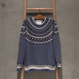 White Mountaineering - Round Yoke Crew Neck Knit