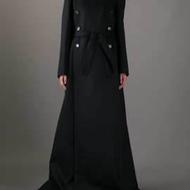 ANN DEMEULEMEESTER - Long double-breasted coat