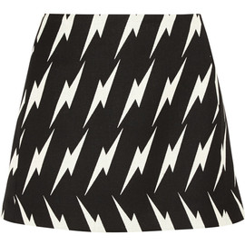 NEIL BARRETT - Lightning-jacquard mini skirt