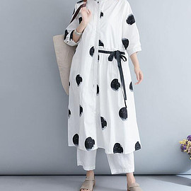 long Cotton dress - White long Cotton dress Loose women dress