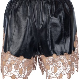 VERSACE - lace paneled shorts