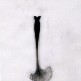 Cathy Daley - Untitled 635 (from the Little Black Dress Series), 2008, Oil Pastel on Vellum