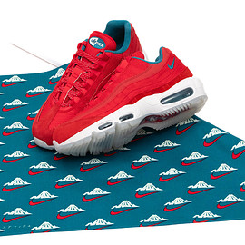 "NIKE, mita sneakers - ""Mt.Fuji(富士山)"" NIKE AIR MAX 95 UTILITY NRG UNIVERSITY RED/BRIGHT SPRUCE/SUMMIT WHITE"