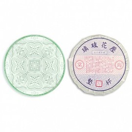 duo - old glass cup pad- 海棠-Taiwan