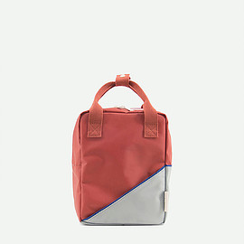 sticky lemon - small backpack diagonal   faded red