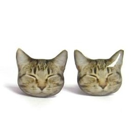 Sleeping Kitty Studs