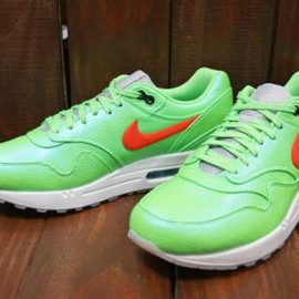 Nike - NIKE AIR MAX 1 FB PREMIUM QS POLARIZED BLUE/TOTAL CRIMSON-NEO LIME