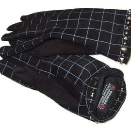 AFFA - spider check Leather gloves