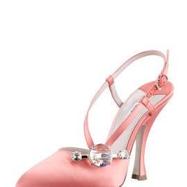 miu miu - Satin Side-Jewel Slingback Pump
