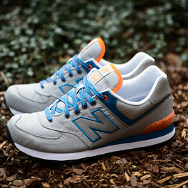 New Balance - 574 - Windbreaker Grey/Blue/Orange