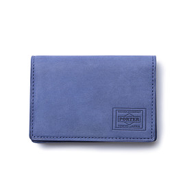 "HEAD PORTER - ""ORCIA"" CARD CASE BLUE"