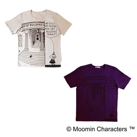 Y's for living - 【a part of me×Moomin】30/1天竺 リトルミイ&階段プリントTシャツ