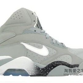 NIKE - NIKE AIR FORCE 180 HIGH GREY/WHITE/BLACK