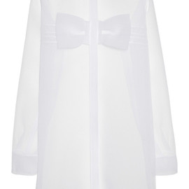 CHRISTOPHER KANE - Bow-front crinkled-chiffon mini dress
