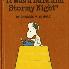 "CHARLES M. SCHULZ - SNOOPY and ""It Was a Dark and Stormy Night"""