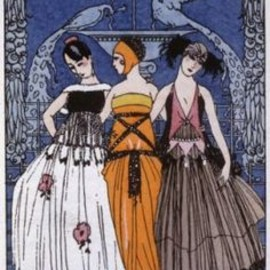 The three graces, fashion plate France, c. 1920