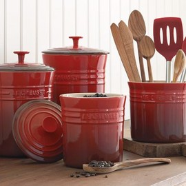 Le Creuset - Enameled Stoneware Canisters