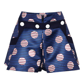 KENZO - Resort2015 Duchess Satin Dots And Stripes Short