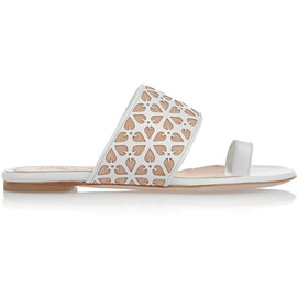Alexander McQueen - Laser-cut leather and suede sandals