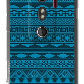 SECOND SKIN - バティック ブルー (クリア)  / for HTC EVO 3D ISW12HT/au