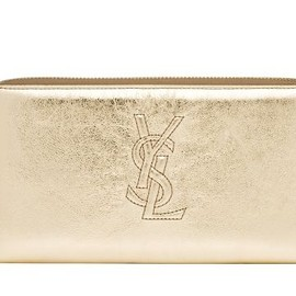 Yves Saint Laurent - METALLIC LEATHER ZIP WALLET