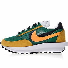 Sacai, Nike - Sacai x Nike LDV Waffle Hybrid Green Yellow Black Orange