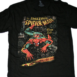 VINTAGE - Retro Style Spiderman Shirt Mens Size XL