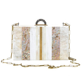 LANVIN - Shell and mother of pearl box clutch