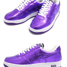 A BATHING APE - A BATHING APE(エイプ) BAPESTA FOIL【新品】PURPLE 291-000798-309 191-002947-294