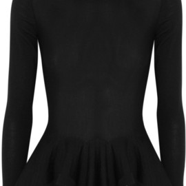 Alexander McQueen - Wool Peplum Sweater in Black