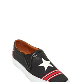 GIVENCHY - LEATHER STARS SLIP ON SNEAKERS