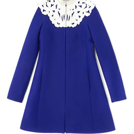 VALENTINO - Short Coat With Embroidered Yoke