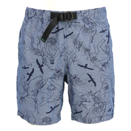 WILD THINGS - CLIMBER PRINT CHAMBRAY SHORT