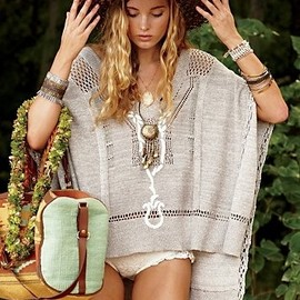 hat and poncho