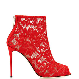 DOLCE&GABBANA - Red lace boots