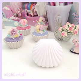 Shell Velvet Accessory Gift Box Blue