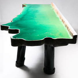 Six Tables on Water by Gaetano Pesce