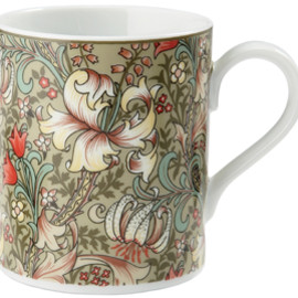The Huntington Library, Art Collections, and Botanical Gardens - William Morris Golden Lily Mug, Light Blue